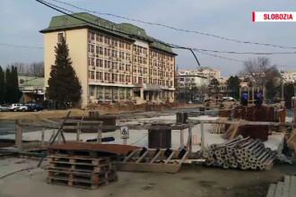 Autoritatile din Slobozia au cheltuit banii europeni pe o parcare ce a inundat centrul orasului. Rolul jucat de Dragnea