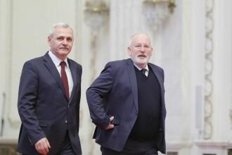 Politico.eu: Dragnea, întrebat la Congresul PES de ce i s-a făcut dosar lui Timmermans