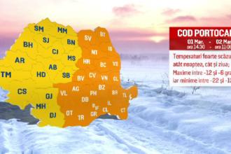 Temperaturile de -24 de grade în nordul României. Gerul se menține mai multe zile