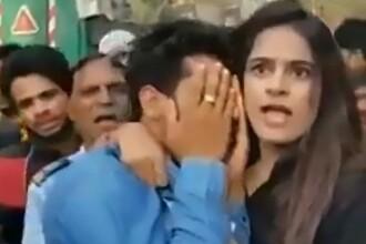 Răzbunarea unei femei pe bărbatul care a hărțuit-o sexual într-o piață