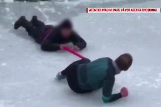 Tânăr salvat de la înec, după ce gheața de pe lacul din Parcul Național s-a rupt sub el