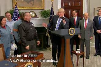 Gafa comisă de Donald Trump, la o ceremonie. A presupus că tatăl unui invitat este decedat