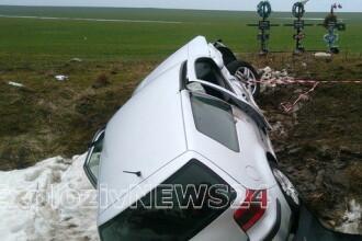 Un şofer al Prefecturii Teleorman a provocat un accident cu 4 răniți. Doi sunt jurnaliști