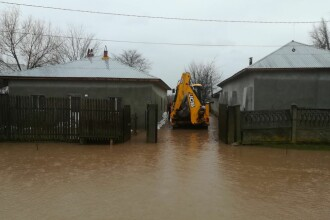 Inundații puternice în mai multe județe, după ploile abundente și topirea zăpezii