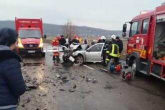 Un tânăr băut a provocat un accident soldat cu un mort și trei răniți în Vaslui. FOTO