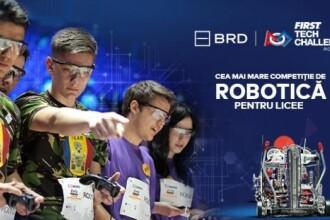 Elevii de liceu învaţa să construiască roboţi în cadrul celui mai mare concurs de profil din România