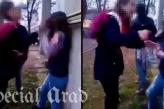 Fată bătută de două adolescente, din cauza unui băiat, în centrul Aradului. VIDEO
