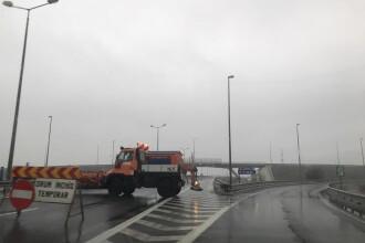 Infotrafic: Trafic reluat pe A2, drumuri naționale cu circulație îngreunată de inundații