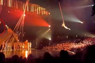 Momentul șocant în care un acrobat de la Cirque du Soleil cade în timpul numărului și moare