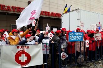 Angajaţii din Sănătate pichetează, marţi, sediul Ministerul Sănătăţii
