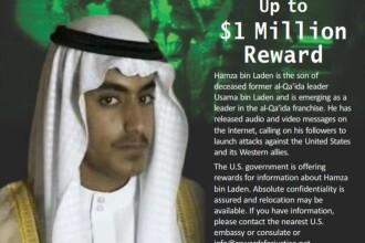 """Noua țintă a SUA: """"prințul moștenitor al jihadului"""". Recompensă de 1.000.000 de dolari"""
