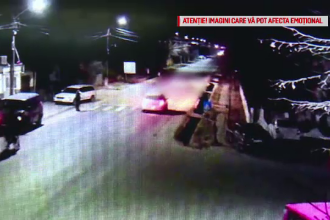 Momentul în care un bărbat este lovit mortal de două mașini în câteva secunde