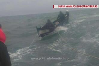 Doi pescari au naufragiat pe litoralul românesc, pe valuri puternice
