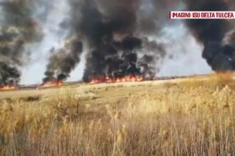 Focul pus de localnici în Delta Dunării s-a extins și a amenințat mai multe localități