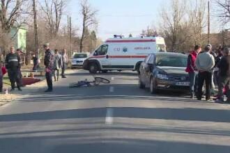 O șoferiță începătoare a lovit în plin o biciclistă, în Dâmbovița. Ce explicație a dat