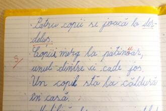 """Elev de clasa a II-a din Iași, corectat greșit pe caiet. """"Ce să-i răspund, domnule învățător?"""""""