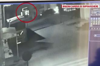 Bancomat din Brăila aruncat în aer cu o butelie. Ce au surprins camerele video