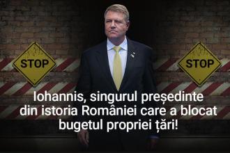 PSD îl atacă pe Iohannis pe Facebook după respingerea bugetului.