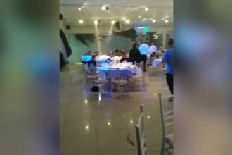 Nuntă de coşmar, după ce o furtună a spart geamurile salonului. Ce au păţit oaspeţii