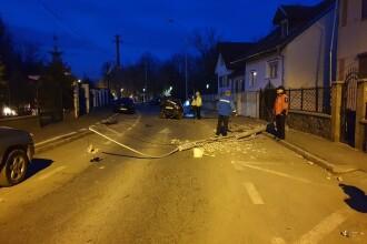 Dezastru provocat de un șofer din Sibiu care s-a urcat beat la volan