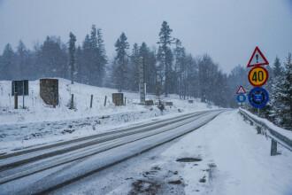Informare de vreme rea până la ora 11:00. Regiunile în care sunt așteptate ninsori