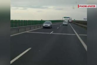 Șoferiță prinsă conducând pe contrasens pe autostrada A1