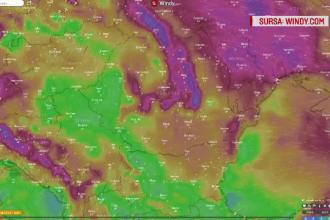 Un val de aer rece, din nordul Atlanticului, lovește România. Zonele afectate de vijelii