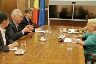 Viorica Dăncilă, întâlnire cu Hans Klemm, ambasadorul SUA la București