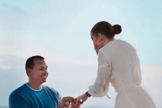 Jennifer Lopez ignoră zvonurile legate de iubitul ei. Noi imagini de la logodna celor doi