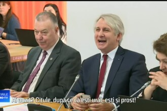 """Teodorovici, către un senator PNL : """"După ce că ești urât, mai ești și prost. Chiparosule!"""""""