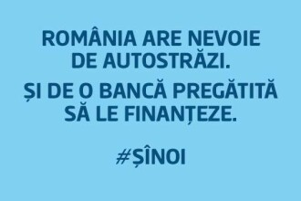 """A doua cea mai mare bancă din România se alătură protestului """"România vrea autostrăzi"""""""