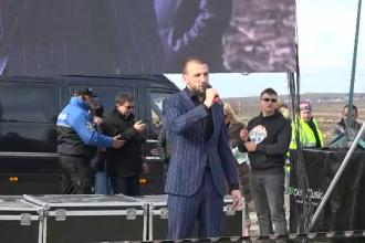 Filmul inaugurării autostrăzii de 1 m din Moldova. Mii de români şi-au unit vocea la protest