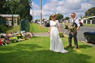 Gestul făcut de o mireasă în locul atacului terorist din Noua Zeelandă