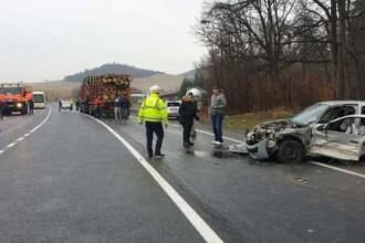 Accident în lanț pe DN1 în Brașov. 7 maşini s-au ciocnit