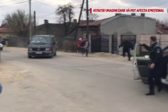 Bătaie cu bâte și topoare în județul Giurgiu. Polițiștii au tras focuri de armă