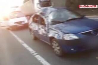 Accident grav după o depășire pe linie continuă. Trei copii au ajuns la spital