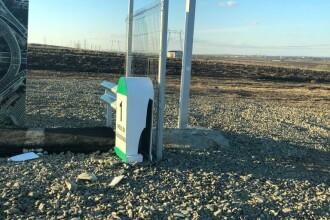 Borna care marchează metrul de autostradă din Moldova a fost vandalizată. Reacția lui Mandachi