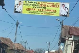 Invitaţii la nuntă pe bannere uriaşe, la Târgu-Jiu. Amenzile primite de părinții mirilor