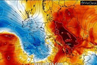 Val de aer foarte cald în România. Meteorologii anunță temperaturi record pentru această perioadă
