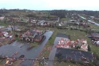 Tornadă extrem de puternică în Tennessee, SUA. Cel puțin 25 de oameni au murit