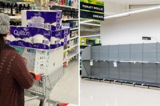 Coronavirus: Australienii își fac stocuri de hârtie igienică. O rolă, vândută cu 1.000 de dolari