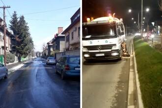 """Străzile din București, spălate cu soluții dezinfectate """"pe bază de clor activ şi biocid"""""""