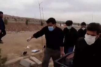 Imagini tulburătoare din Iran. Cimitir, amenajat special pentru victimele coronavirusului