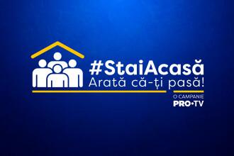 """PRO TV a lansat campania """"Arată că îți pasă, stai acasă!"""""""