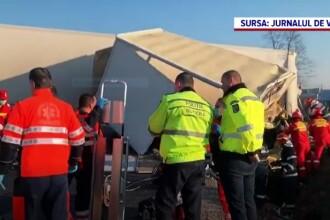 Accident grav în Vrancea. Un autoturism a intrat pe contrasens și s-a izbit de un tir