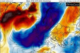 Val de aer arctic în Europa. Harta zonelor afectate