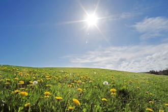 Prognoza meteo pe următoarele 2 săptămâni. Vremea se va menține frumoasă în țară