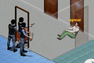ANIMAȚIE GRAFICĂ. Cum a fost împușcat agresorul din Onești de forțele speciale