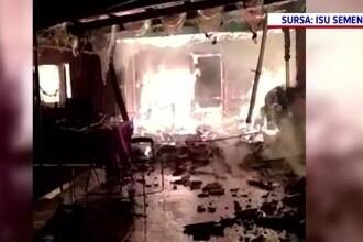 Incendiu violent în Caraş-Severin. Mai multe case au fost mistuite de flăcări