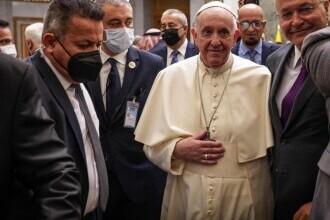 Moment pentru istorie. Papa Francisc s-a întâlnit cu marele ayatollah șiit Ali al-Sistani
